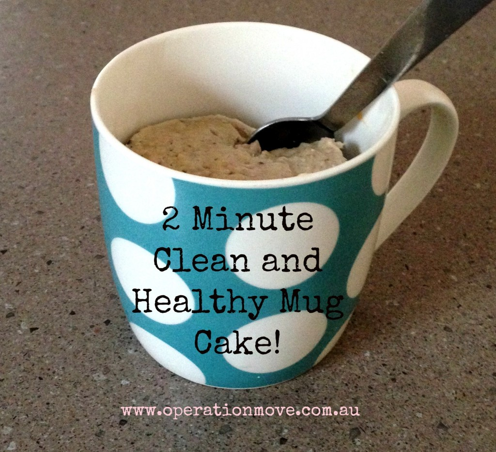 clean eating health diet mug cake