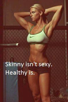 Actually, skinny can be very sexy. As can fat, and everything in between. Also, I don't like to tell you this, but you are skinny. Just sayin'
