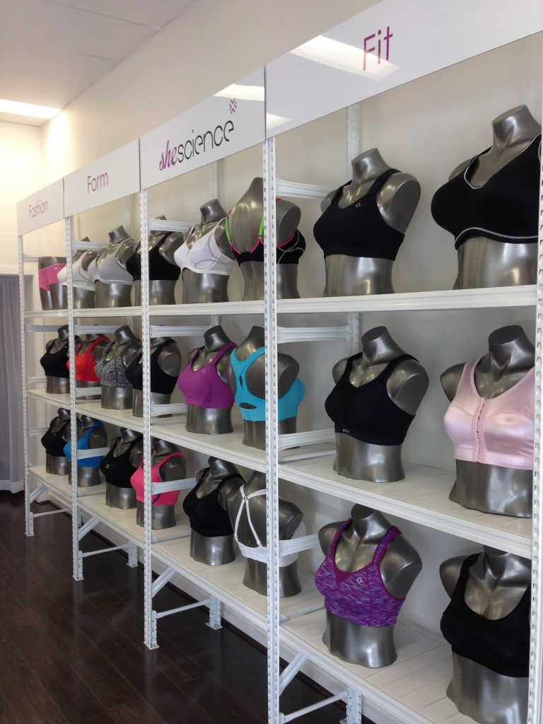 wall of sports bras She Science