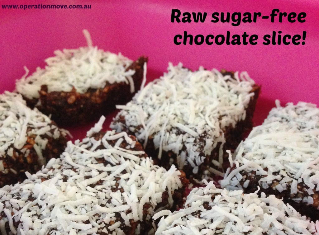 raw vegan sugar free chocolate slice